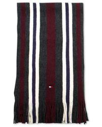Tommy Hilfiger Black Bar Stripe Scarf for men