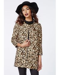 Missguided Multicolor Sienna Collarless Jacket Leopard Print