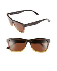 Ferragamo | Brown Retro Sunglasses for Men | Lyst