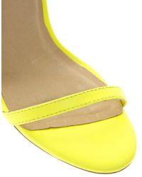 ASOS Yellow Hong Kong Heeled Sandals With Metal Trim