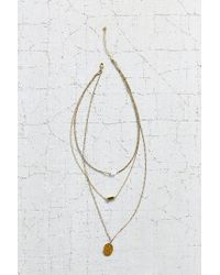 Urban Outfitters - Metallic For Keeps Crystal Layering Necklace - Lyst
