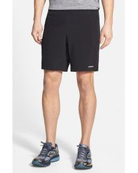 Patagonia | Black 'nine Trails' Stretch Woven Running Shorts for Men | Lyst