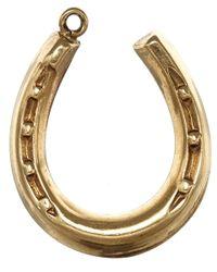 Annina Vogel | Metallic Vintage Gold Hanging Horseshoe Charm | Lyst