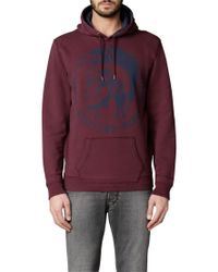 DIESEL - Red Agnes Graphic Hoodie for Men - Lyst