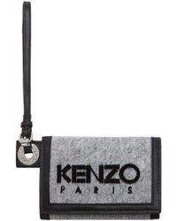 KENZO - Gray Grey Denim Small Wallet for Men - Lyst