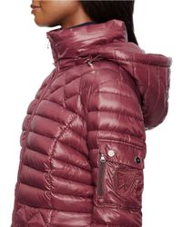 Lauren by Ralph Lauren | Purple Mixed Quilted Down Jacket | Lyst