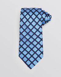 Ike Behar Blue Diamond Medallion Classic Tie for men