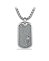 David Yurman   Metallic Dy Logo Tag Necklace for Men   Lyst