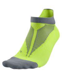 Nike Green Elite Lightweight No-show Tab Running Socks for men