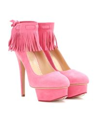 Charlotte Olympia - Pink Sundance Dolly Suede Pumps - Lyst