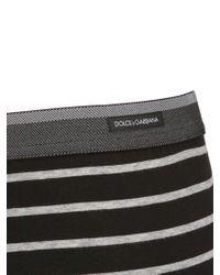 Dolce & Gabbana Black Striped Jersey Boxer Briefs for men