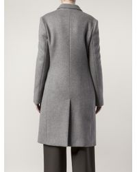 Stella McCartney | Gray Coat with Zip Side Pockets | Lyst