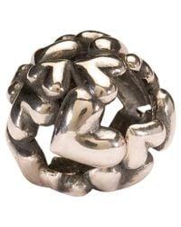 Trollbeads | Metallic 'heart Ball' Silver Bead | Lyst