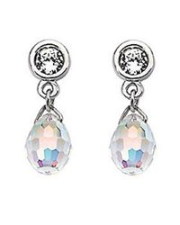 Swarovski | Metallic Aurora Borealis Crystal Drop Earrings | Lyst
