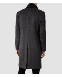 AllSaints - Black Zenith Coat for Men - Lyst