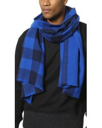 Marc By Marc Jacobs | Blue Boiled Wool Plaid Scarf for Men | Lyst