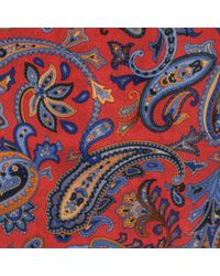 Black.co.uk - Red Bariano Paisley Italian Silk Tie Description Delivery & Returns Reviews for Men - Lyst