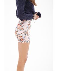 Forever 21 - Multicolor Floral Print Bike Shorts - Lyst