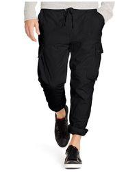 Polo Ralph Lauren | Black Straight-fit Utility Pants for Men | Lyst