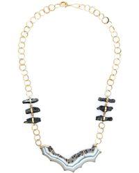 Melissa Joy Manning | Metallic Raw Hematite And Agate Necklace | Lyst