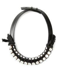 Lanvin | Black Pearl Necklace | Lyst