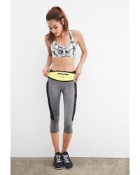 Forever 21 | Gray Medium-impact - Abstract Print Sports Bra | Lyst