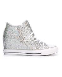 Converse Metallic High Top Concealed Wedge Sneakers