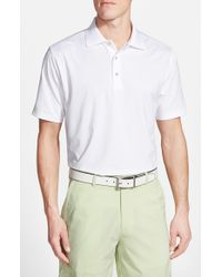 Peter Millar | White Moisture Wicking Stretch Jersey Polo for Men | Lyst