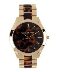 Michael Kors Metallic MK4284 Slim Runway Watch