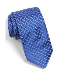 Ted Baker - Blue Check Silk Tie for Men - Lyst