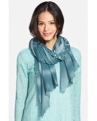 Eileen Fisher - Blue 'Spray' Organic Cotton Scarf - Lyst