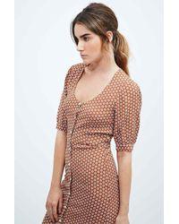 For Love & Lemons Brown Montana Maxi Dress In Tan