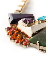 Anton Heunis   Metallic Crystal Embellished Necklace   Lyst