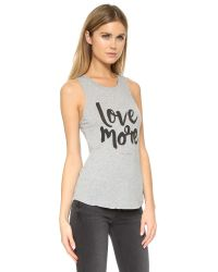 Spiritual Gangster | Gray Love More Muscle Tank - Heather Grey | Lyst