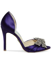 Betsey Johnson Purple Blue By Gown Evening Pumps