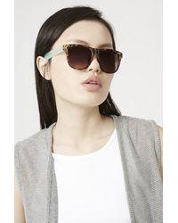 TOPSHOP - Pink Winnie Wayfarer Sunglasses - Lyst