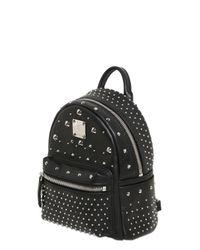 MCM Black Extra Mini Stark Leather Backpack for men