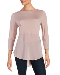 Two By Vince Camuto | Pink Layered Effect Top | Lyst