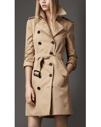 Burberry Natural Check Undercollar Trench Coat