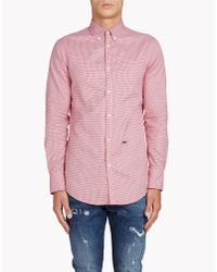DSquared² | Red Classic Button Down Shirt for Men | Lyst