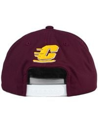 bdd911358b1 Lyst - adidas Central Michigan Chippewas Travel Flat Brim Snapback ...