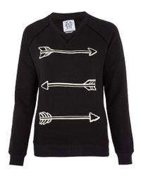 Zoe Karssen - Black Arrow Print Sweatshirt - Lyst