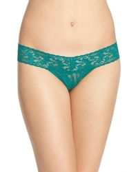 Hanky Panky | Green 'signature Lace' Low Rise Thong | Lyst