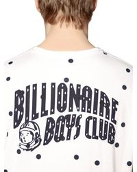 Billionaire Boys Club - Ice Cream - White Polka Dot Printed Cotton T-shirt for Men - Lyst