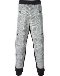 Alexander McQueen Black Check Skull Track Pants for men