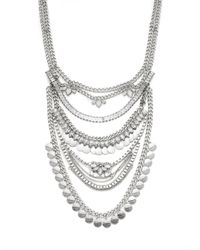 BCBGeneration - Metallic Rhodium-Tone Drama Multi-Chain Frontal Necklace - Lyst