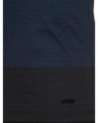 Burberry - Blue Smithurst Square-print Cotton T-shirt for Men - Lyst