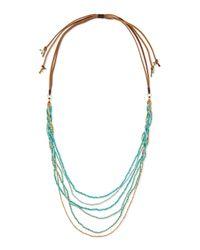 Nakamol Blue Multi-strand Beaded Necklace