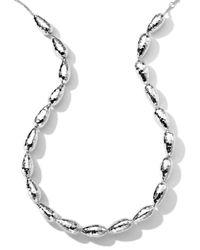 Ippolita - Metallic Hammered Silver Chain Necklace - Lyst