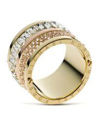 Michael Kors - Green Barrel Ring - Lyst